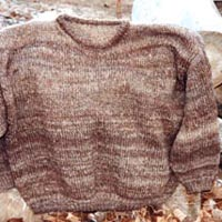 Image of a hand-knit sweater from Icelandic sheep fleece